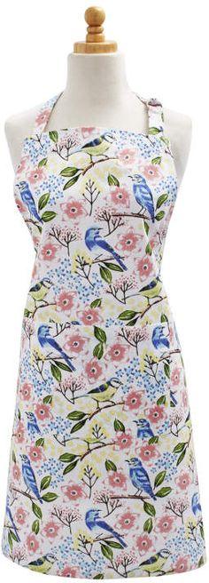 bird apron / Sur La Table Birdies Kitchen Apron / chef apron / springtime apron / #ad
