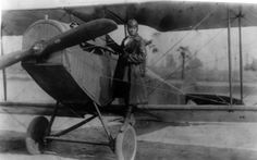 A 1922 photo of Bessie Coleman, the first female African American pilot,  making her first appearance in an American air show, at Curtiss Field -- Roosevelt Field