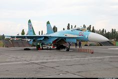 Fully armed Flanker on the ramp. - Photo taken at Voronezh - Baltimor (UUOW) in Russia on August Airplane Fighter, Fighter Aircraft, Fighter Jets, Sukhoi, Su27 Flanker, Navy Air Force, Aircraft Design, Aircraft Pictures, War Machine