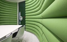 Other quirky touches include a 'Padded Cell' meeting room.