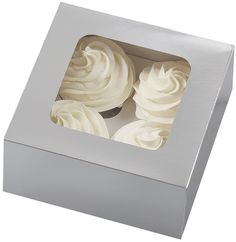 Wilton 4 Cavity Silver Cupcake Boxes, 3 Count > See this great image  : Decorating Tools