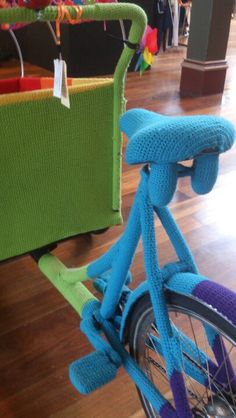 The yarn bombed cargo bike