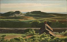 Hills, South Truro - Hopper, Edward (American, 1982 - Fine Art Reproductions, Oil Painting Reproductions - Art for Sale at Galerie Dada Truro, American Realism, American Artists, Monet, Edward Hopper Paintings, Cleveland Museum Of Art, Wow Art, Cape Cod, Gardens