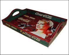 Bandeja Vintage Coca-cola Blonde | PoisZé Artesanato | Elo7