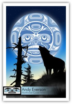 Andy Everson is a Northwest Coast Artist from Comox BC specializing in contemporary and traditional limited edition Native prints. Native American Symbols, Native Symbols, Haida Art, Inuit Art, Native Design, Canadian Art, Coastal Art, Indigenous Art, Moon Art