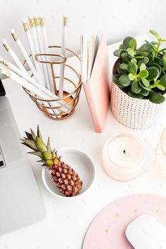 Styled Stock Photography for creative business owners and bloggers. Blush and Greenery Styled Desktop Collection #08