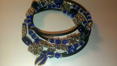 Colon cancer beaded wrap