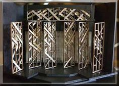 Model of Set Design for LP - Walls turn to create different spaces/locations/entrances