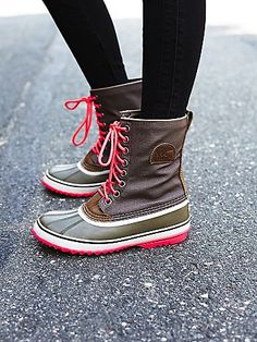 1964 Canvas Weather Boot | Get through any kind of weather in these stylish all weather boots.  Canvas body and a durable, protective rubber and textured sole.   *Sorel