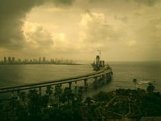 Andreas H. Bitesnich Rajiv Gandhi Sea Link Mumbai India />Included in the book INDIA Rajiv Gandhi, Our World, Mumbai, Clouds, India, Sea, Sunset, Gallery, Link