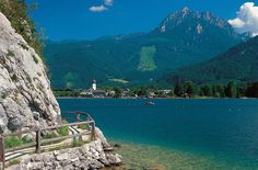 Lake Wolfgang in the Salzkammergut region, Austrian Lake District