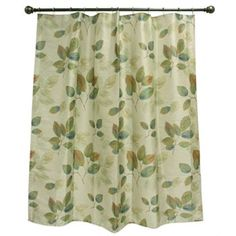 Peacock Leaves Fabric Shower Curtain