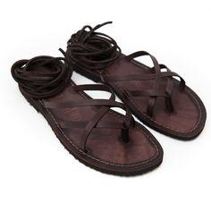 Sandalo copertino marrone da donna