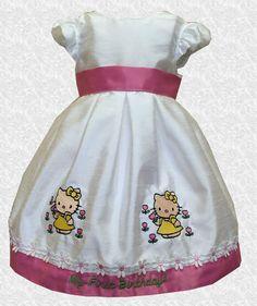 1b08285ea Beautiful Off-White Taffeta Hello Kitty 1st Birthday Dress - 12 Months -  D234