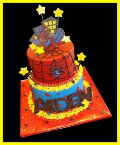 Spiderman cake for Aiden by atasteofwhimsy, via Flickr