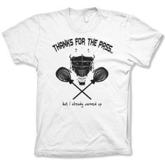 Thanks for the Pass Lacrosse Goalie shirt, White, Medium Guerrilla Lax,http://www.amazon.com/dp/B008S2N3I8/ref=cm_sw_r_pi_dp_oXC5sb1QR8FEF48G