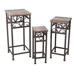 Cyrielle 3 Piece Nesting Plant Stand Set