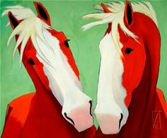art: Red Horses #3, artist: Katie Upton