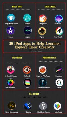 20 Great iPad Apps to Help Learners Explore Their Creativity via @medkh9   iGeneration - 21st Century Education (Pedagogy & Digital Innovation)   Scoop.it