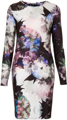 Topshop Tall Floral Print Bodycon Dress on shopstyle.com