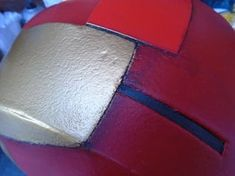 Picture of Gold Paint, Weathering and Clear Coat Spray Paint Cans, Acrylic Spray Paint, Gold Spray Paint, Red Paint, Iron Man Helmet, Painters Tape, Foam Crafts, Projects To Try, Building