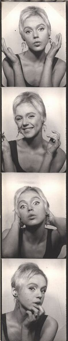 Warhol Superstar Edie Sedgwick in a photobooth