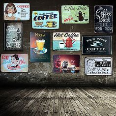 20*30CM Vintage Retro Metal Signs Tin Poster Proverb Cafe Shop Tavern Home Decor