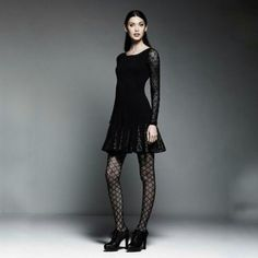 Catherine Malandrino Black Crochet Lace Dress