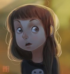 Cute Girl Character Illustration.