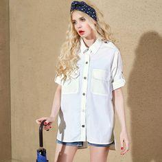 short sleeve polo cotton shirt