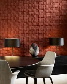 Enigma, an exquisite three-dimensional textile wallcovering on non-woven backing Wellness Spa Hotel, Küchen Design, Interior Design, Arte Wallcovering, Enigma, Shiny Fabric, Decoration Originale, Wallpaper Online, Inspiration Wall
