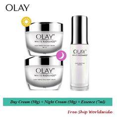Set : Olay White Radiance Day + Night Cream 50g ( Free Essence 7ml )  #olay #olaywhiteradiance Layers Of Skin, Clean Face, Radiant Skin, Skin Brightening, Olay, Dry Skin, Whitening, Moisturizer