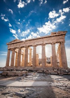 Greece - The Parthenon is a temple on the Athenian Acropolis dedicated to the Greek goddes athena.Parthenon, Greece - The Parthenon is a temple on the Athenian Acropolis dedicated to the Greek goddes athena. Places Around The World, Oh The Places You'll Go, Great Places, Places To Travel, Beautiful Places, Places To Visit, Around The Worlds, Athens Greece, Parthenon Greece