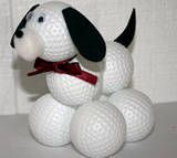 Make this special dog a golf fan can display on a shelf or even used as a paperweight! If the person you are making this gift for does not like golf, you can use small Styrofoam balls that are painted to resemble the balls from their favorite sport such as basketballs, baseballs, or soccer balls.