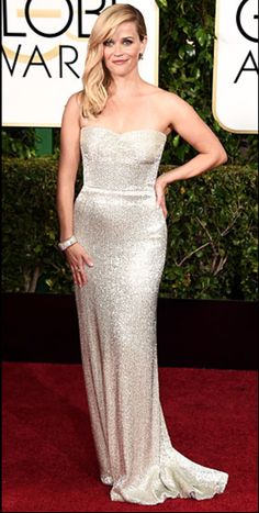 Reese Witherspoon shines at the 2015 Golden Globes