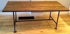 DIY Wood Table & Plumbing Pipe legs