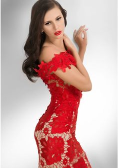 Grab all the attention you want by sporting the evergreen red party dresses Buy Dress, Lace Dress, Evening Dresses, Formal Dresses, Dresses 2014, Party Dresses, Red Party, Red Cocktail Dress, Ball Gowns