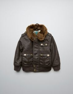 synthetic leather jacket - Coats - Baby boy (3-36 months) - Kids - ZARA....want to buy this for my sis-in law Baby