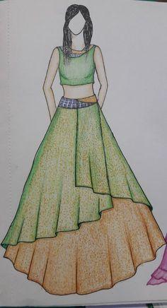 24 Ideas For Drawing Woman Dress Art - Dress Dress Design Drawing, Dress Design Sketches, Fashion Design Sketchbook, Dress Drawing, Fashion Design Drawings, Fashion Sketches, Fabric Drawing, Fashion Figure Drawing, Fashion Drawing Dresses