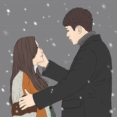 Cute Couple Drawings, Cute Couple Art, Anime Love Couple, Couple Cartoon, Cartoon Pics, Cover Wattpad, Song Kang Ho, Korean Drama Movies, Korean Dramas
