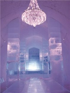 The Ice Hotel..Lapland, Finland I am going to stay in an ice hotel.