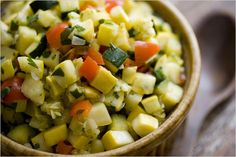 Sautéed Summer Squash with Red Pepper and Onion Recipe - NYT Cooking Sauteed Squash, Summer Squash Recipes, Sauteed Zucchini, Side Recipes, Vegetable Recipes, Vegetarian Recipes, Healthy Recipes, Healthy Food, Kitchens