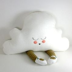 Aww this is such a cute cloud pillow. with feet! #pillows #kids