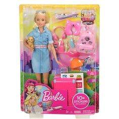 Barbie® Travel Doll And Accessories Dreamhouse Barbie, Travel Items, Travel Set, Barbie Sets, Barbie Dolls, Barbie Mala, Simba Toys, Pink Suitcase, Barbie Doll Accessories