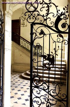 Stock Photo titled: Close-up Of An Ornate Wrought Iron Gate Paris France, unlicensed use prohibited