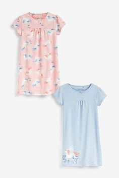 Blue/Pink 2 Pack Unicorn Nighties (2-12yrs) Daughter Love, Next Uk, Unicorn, Design Inspiration, Rompers, Summer Dresses, Pink, Blue, Stuff To Buy