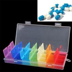 [$1.66] 7 Days Plastic Pill Case Pill Organizer Medicine Box