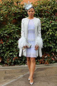 Natalie Dormer, Philip Treacy, Pale Blue Dresses, Nice Dresses, Dolce & Gabbana, Tom Ford, Ascot Outfits, Derby Outfits, Princess Diana Niece