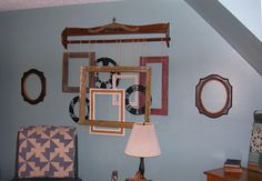 Quilt rack: check  Twine: check  oodles of frames:  check  Now to do it and not just pin it. :~P