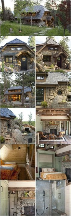 Prepare To Fall in Love With This Small Mountain Cottage {18 Photos} - This small home looks like something a hobbit would live in and we can't get enough of it! It's built by TKP Architects out of Golden, Colorado who are known for their interior design and award-winning architecture. Looking through these pictures, it's easy to see why! #tiny #cottage #rustic